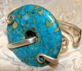 Turquoise Bent Fork Bracelet